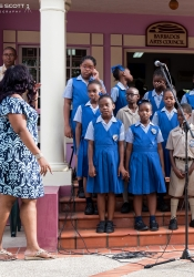 No Green Readings feels complete without at least one school choir lending its voice.  Grantley Prescod Memorial Primary did the honours.