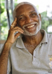 John Robert Lee, St Lucian poet, essayist, anthologist, and culturist, 2018.