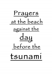 Prayers at the beach against the day before the tsunami – title page