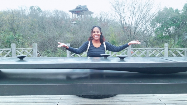 ArtsEtc intern Racquel Griffith in China, circa January 2017, on scholarship.